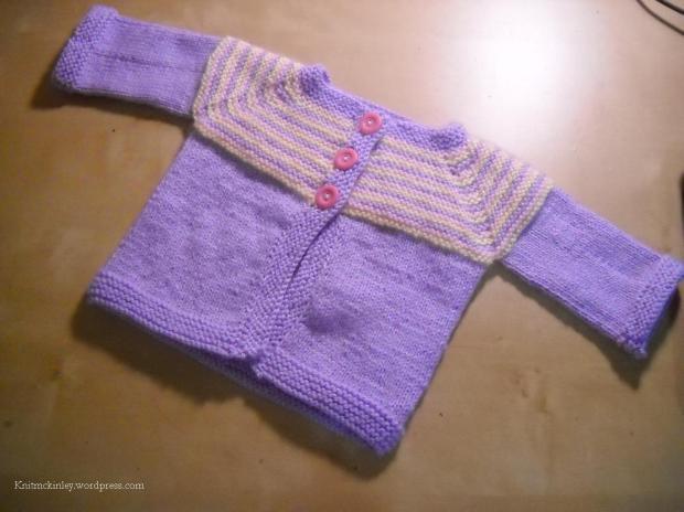 Garter Stitch Yoke Cardigan