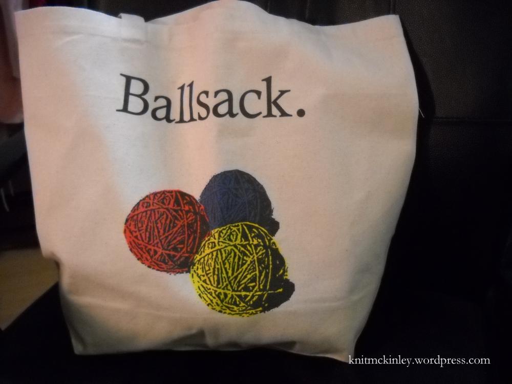Hehe... ball sack.